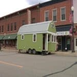 Graduate's tiny house goes on display in a Minnesota town
