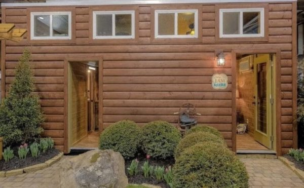 Log Cabin Shipping Container 1