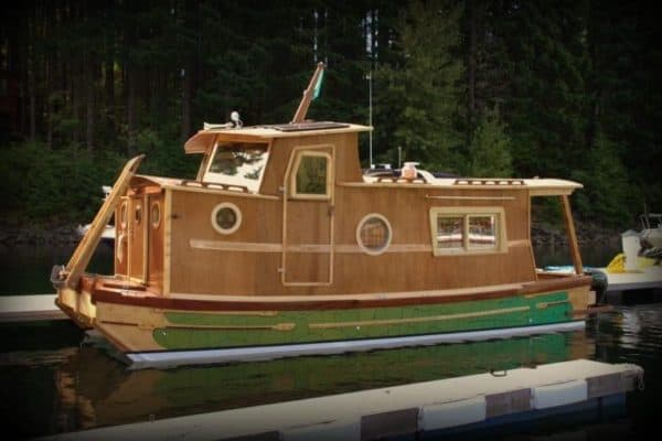 A houseboat that goes on the road and off the grid