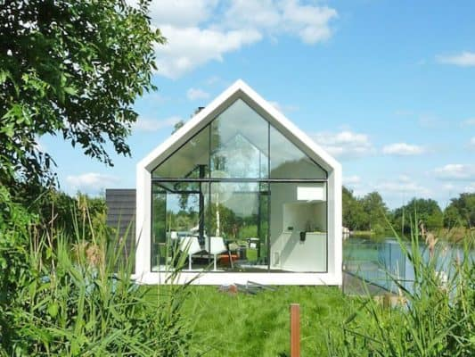 Beautiful glass cabin could be the prototype for a prefab
