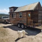 A simple reclaimed wood THOW for sale in Colorado