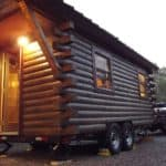 Katahdin creates a real cedar log cabin on wheels