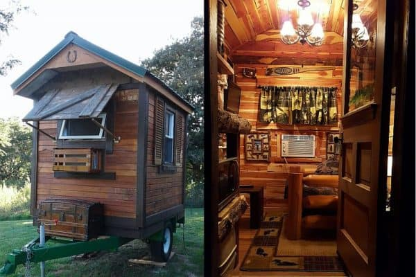 Mike's micro cabin: no plan, no pressure & nearly no money