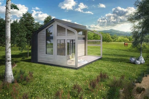 Salt & Water's simple and secure prefab cabin