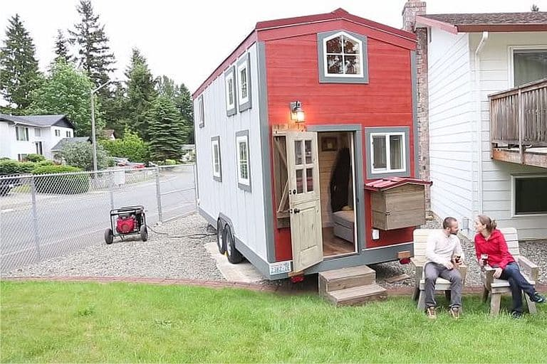 Matt and Kelsey's two-bedroom tiny