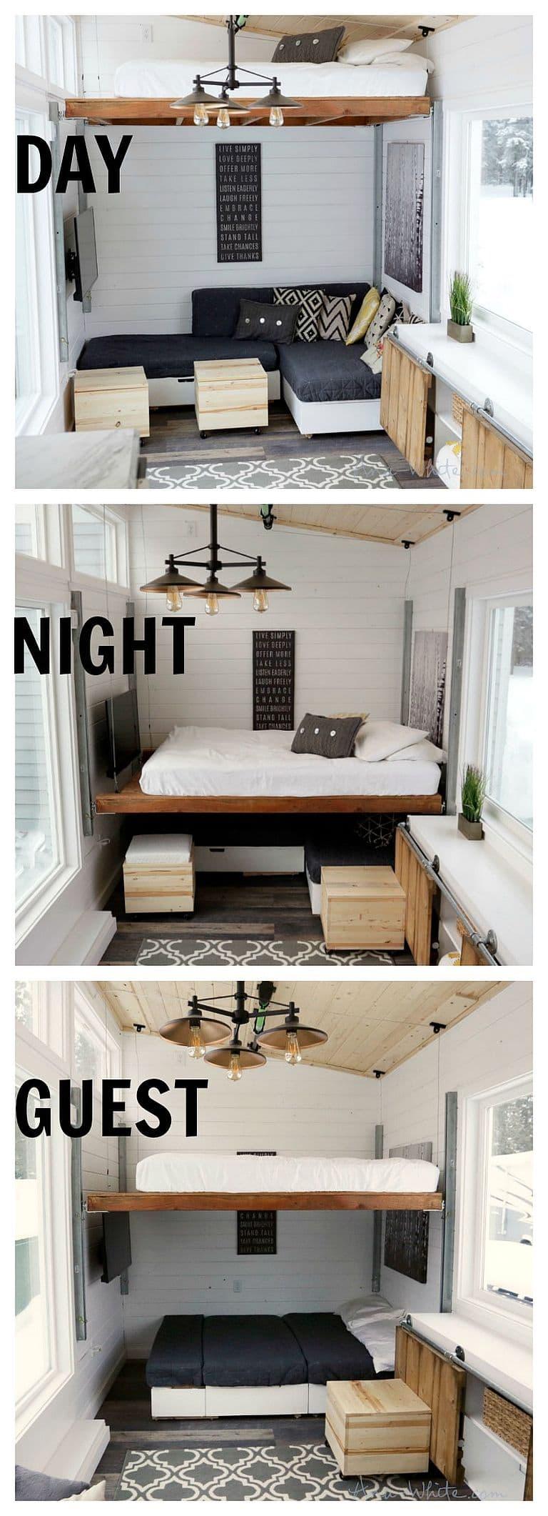 Homemade Elevator Bed Highlights Diy Blogger Ana White S
