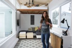 Homemade elevator bed highlights DIY blogger Ana White's 3rd tiny house