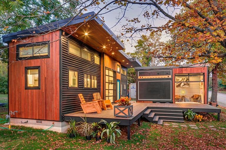 Musicians amplified tiny house lets her take the show on the road