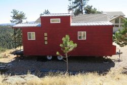 Affordable caboose style on a Tumbleweed trailer