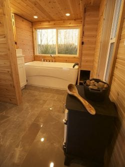 Family's weekend cabin has two bedrooms – and a steam sauna!