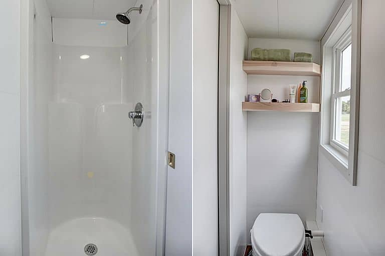 The 30x30 Shower Stall Sits Directly Across From Composting Toilet H T Tiny House Town