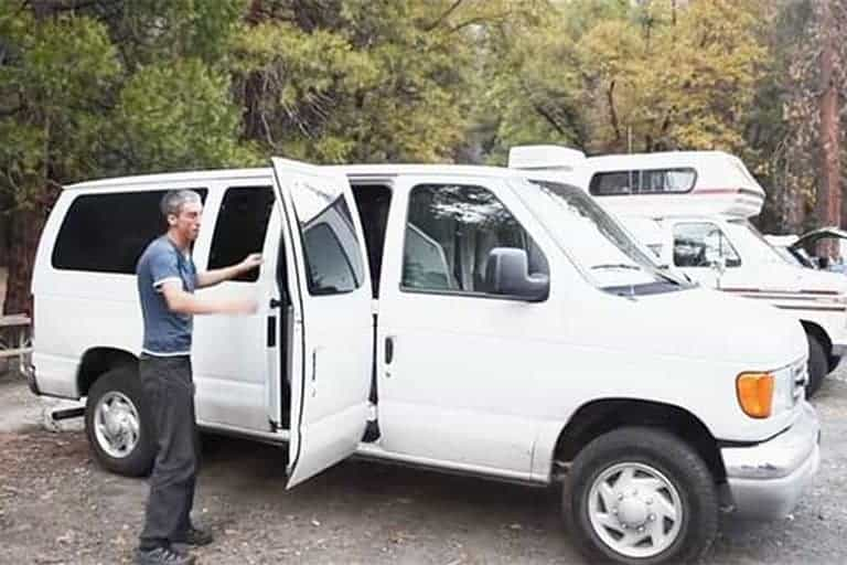 Planning To Travel Climbing Sites Across North America He First Spent A Week In Utah Ginning Up This Cargo Van With Kitchenette Sofa Bed