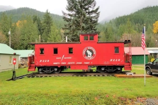 Historic Great Northern Railway caboose X228