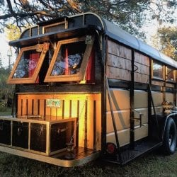 Astonishingly artful horse trailer conversion