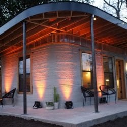 A low-cost printed home from housing nonprofit New Story