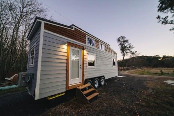 A 28 Foot Modern Farmhouse With First Floor Bedroom And P Through Bathroom